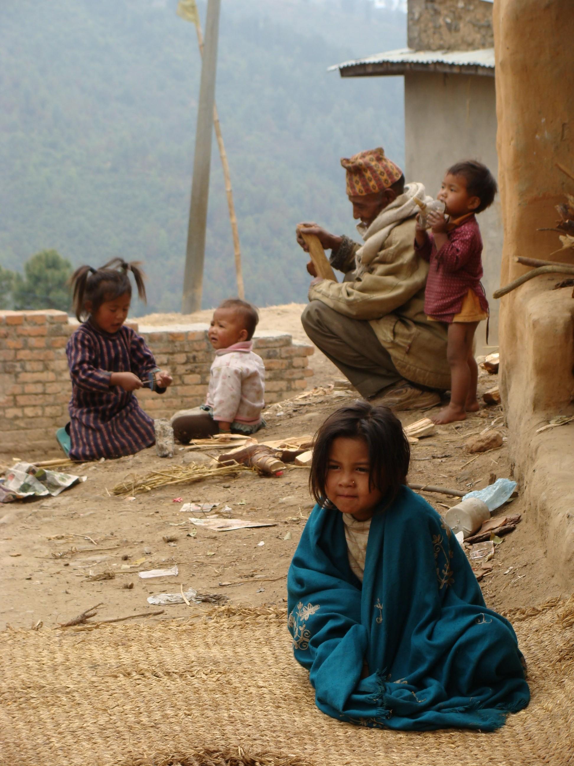 Bergdorpje in de Himalaya