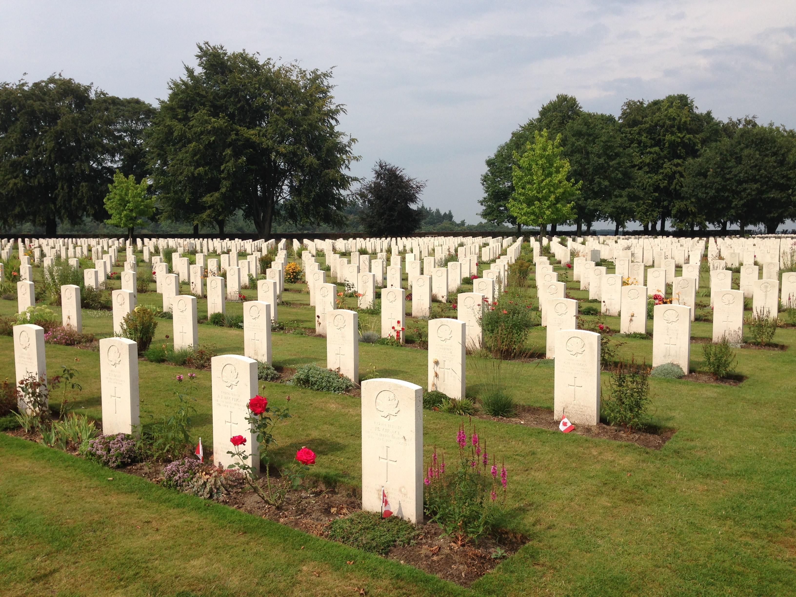 De Canadese begraafplaats