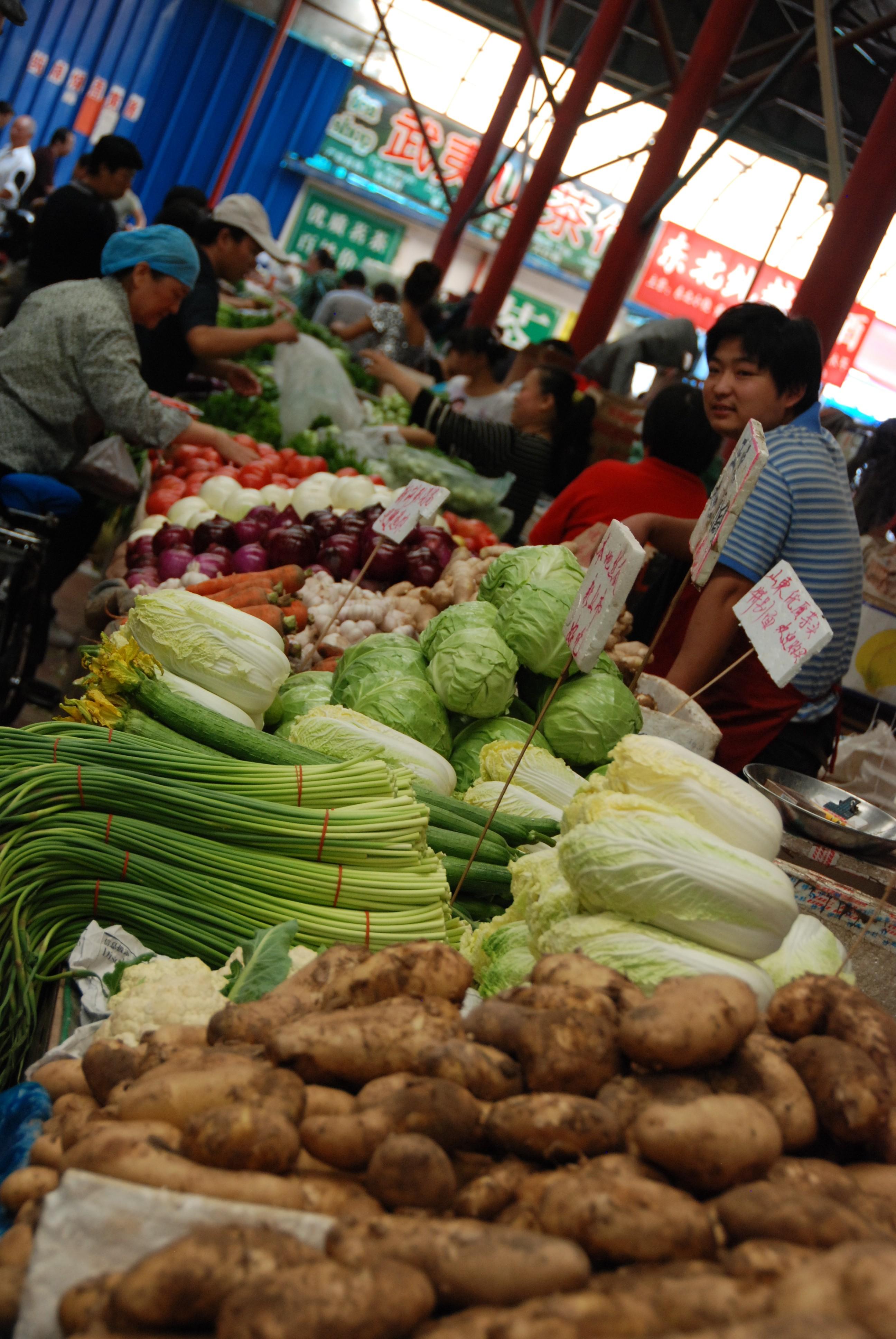 Een lokale markt