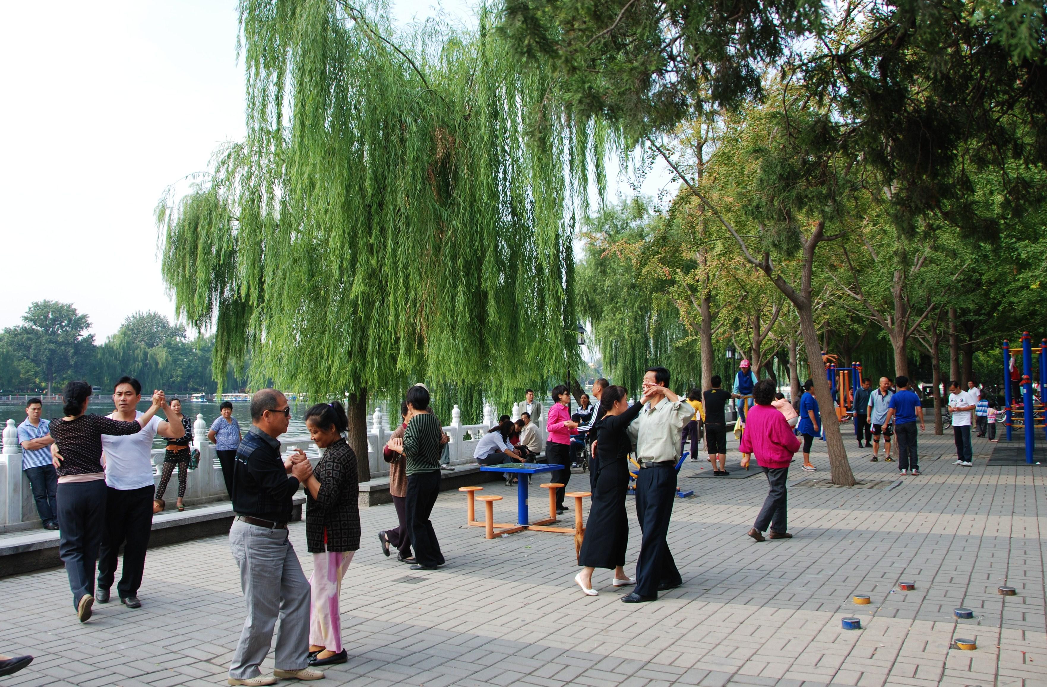 Dansen en sporten in het park