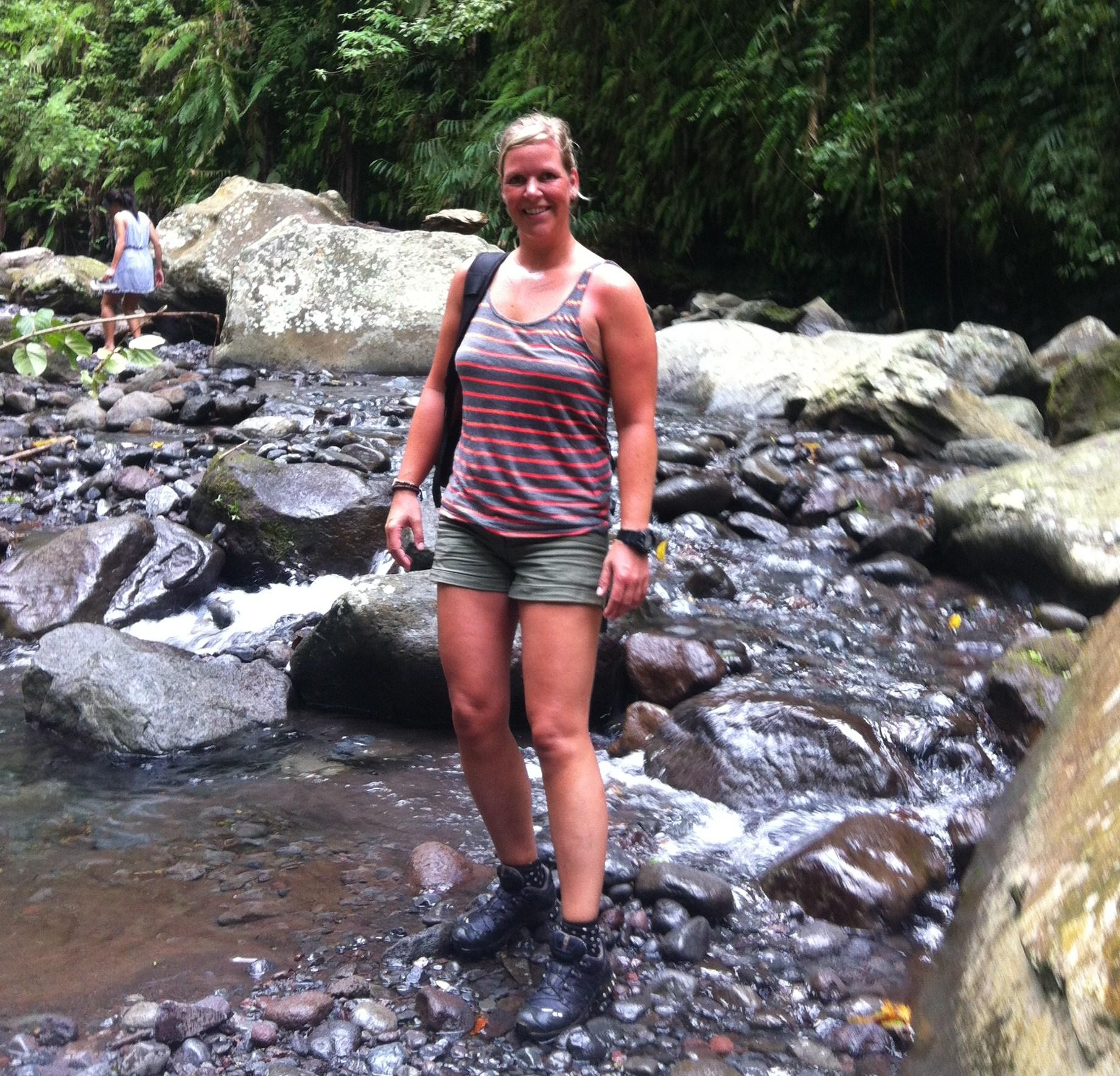 Bij een rivier op Lombok