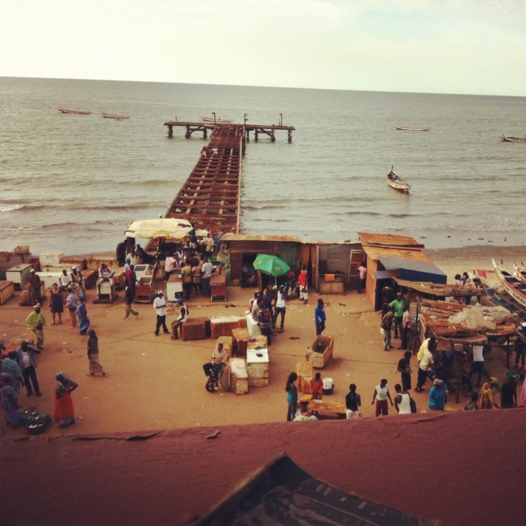 vis markt in Gambia
