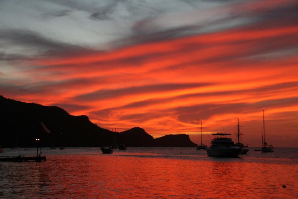 Bequia zonsondergang