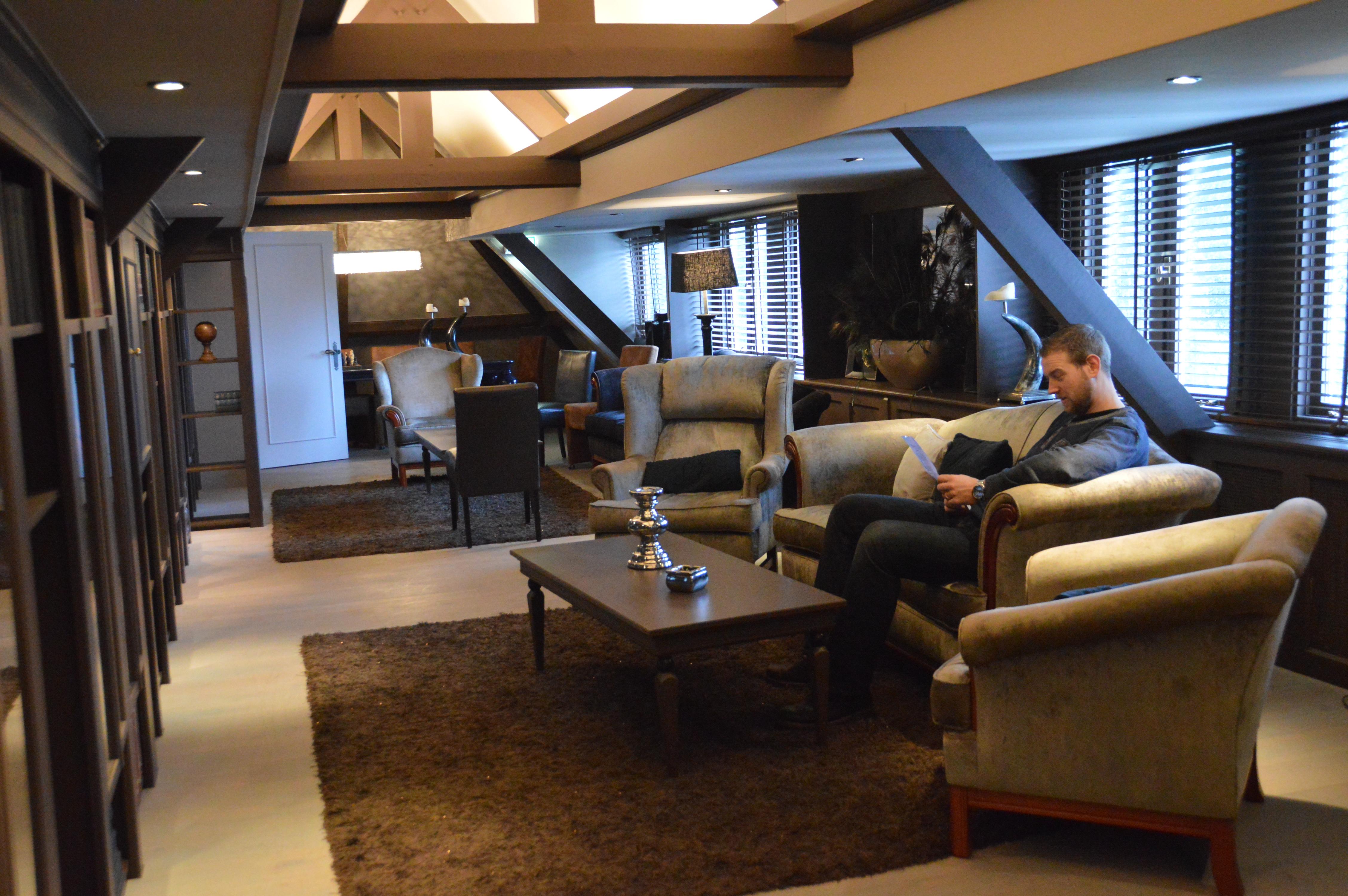 overnachten als koninklijk paar On stijlvolle chique lounge