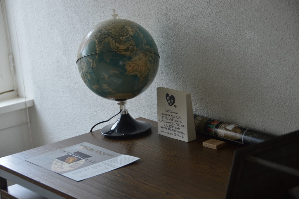 wereldbol werkkamer