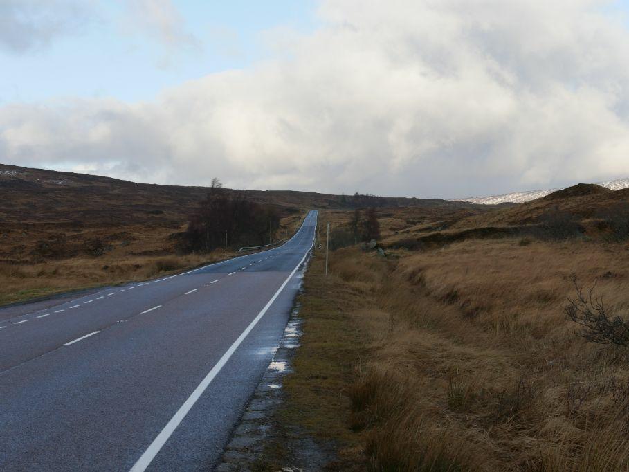 weg Schotse hooglanden