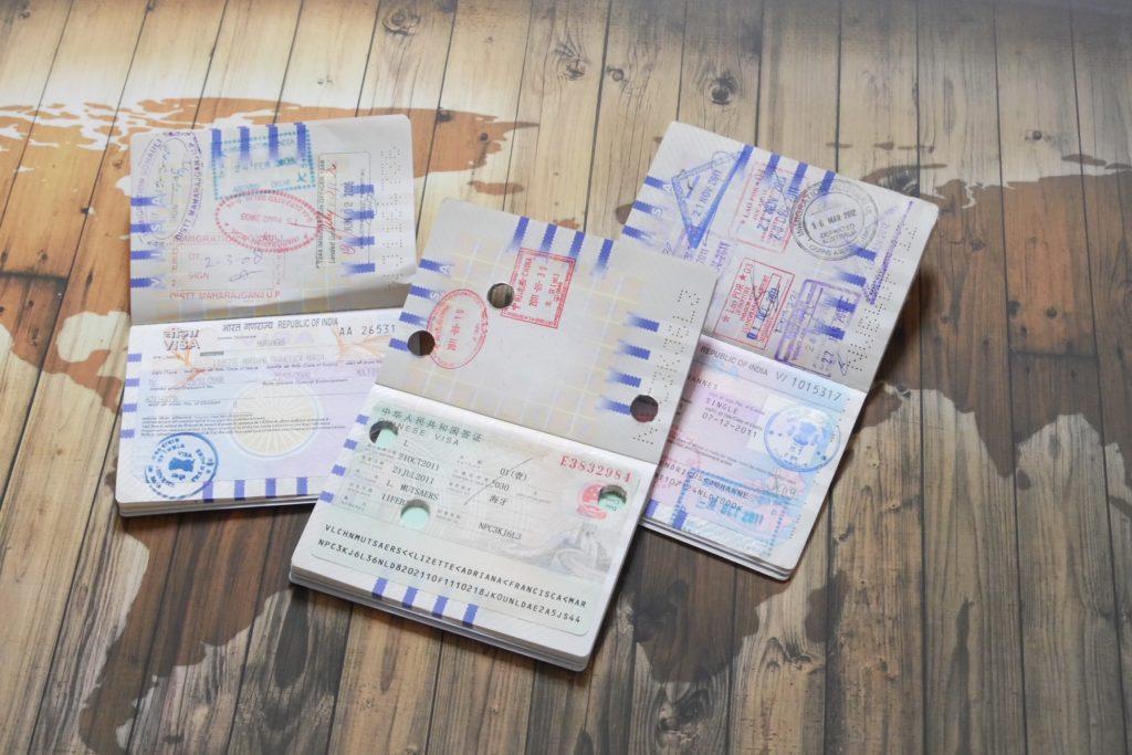 paspoort met visum