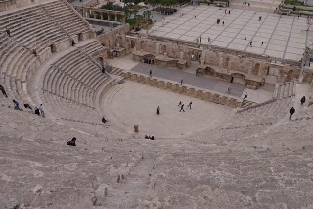 amfitheater van bovenaf bekeken Amman