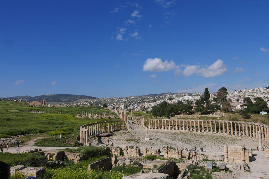 Uitzicht op Jerash