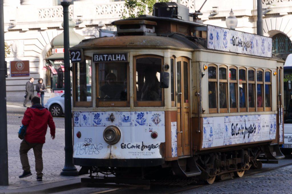 geen tram met de Porto card
