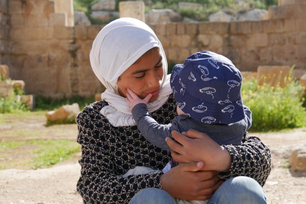 jordanië met baby