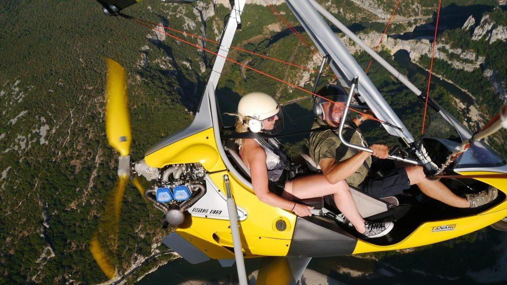 Ardèche ultralight vliegtuig